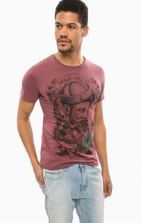 Хлопковая футболка с принтом Alcott