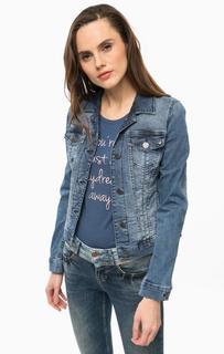 Синяя джинсовая куртка с четырьмя карманами Mustang