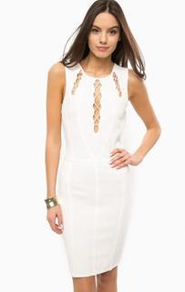 Белое эластичное платье без рукавов Marciano Guess