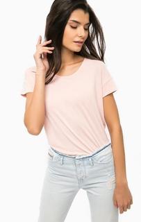 Розовая трикотажная футболка Calvin Klein Jeans