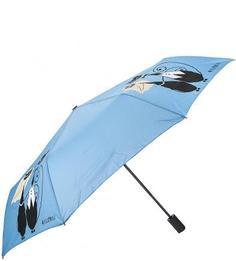 Синий складной зонт с восьмью спицами Flioraj