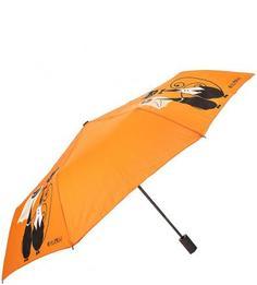 Оранжевый складной зонт с восьмью спицами Flioraj