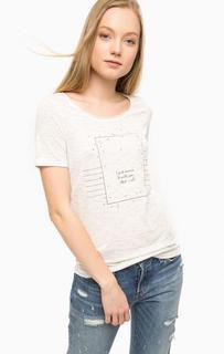 Светло-серая футболка с короткими рукавами S.Oliver