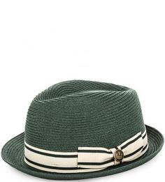 Зеленая плетеная шляпа Goorin Bros.