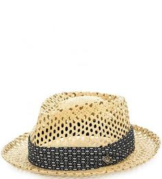 Бежевая плетеная шляпа Goorin Bros.
