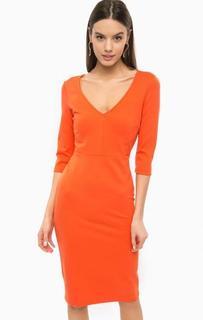 Оранжевое платье с рукавами три четверти Marciano Guess