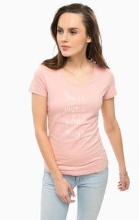 Коралловая футболка из хлопка Mustang