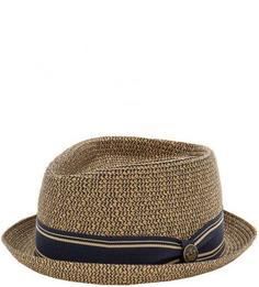 Коричневая плетеная шляпа Goorin Bros.