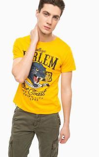 Желтая футболка с принтом Alcott