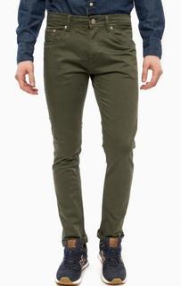Зауженные брюки цвета хаки Alcott