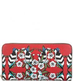Кожаный кошелек с тремя отделами для купюр Furla