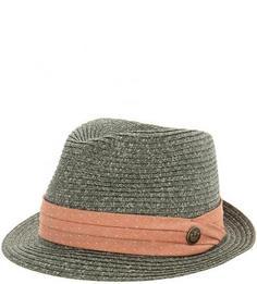 Плетеная шляпа с лентой кораллового цвета Goorin Bros.