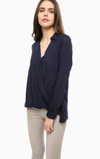 Синяя блуза из вискозы Alcott