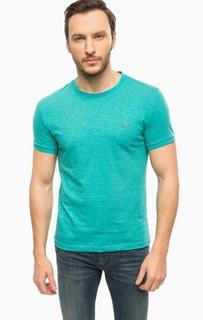 Бирюзовая футболка с круглым вырезом Lacoste
