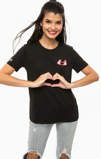 Черная футболка из хлопка с вышивкой Scotch&Soda