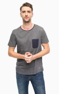 Синяя футболка в полоску Tom Tailor Denim