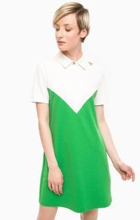 Платье-футболка с отложным воротником Pois