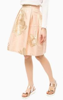Пышная юбка кораллового цвета Think Chic