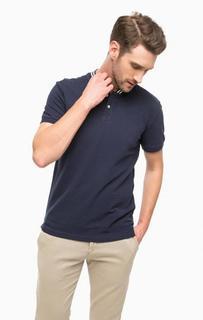 Хлопковая футболка с застежкой на пуговицы Tom Tailor Denim