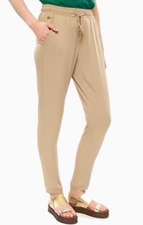 Бежевые зауженные брюки на резинке Alcott