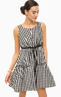 Короткое платье в клетку без рукавов Pois