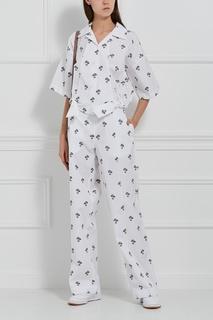Хлопковые брюки Victoria Beckham