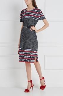 Комбинированное платье St. John