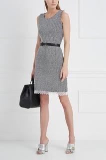 Платье из хлопка и шерсти St. John