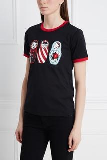 Хлопковая футболка Mo&Co