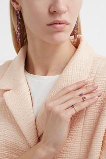 Позолоченное кольцо с аметистами Moonka Studio