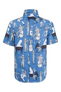 Хлопковая рубашка Dolce&Gabbana Children