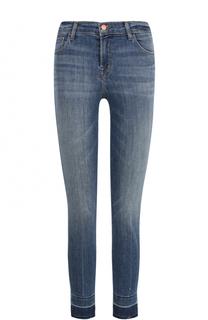 Укороченные джинсы-скинни с необработанным краем J Brand