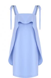 Хлопковое платье с оборками и декоративными бантами Paul&Joe Paul&Joe