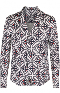 Однобортный пиджак из смеси льна и шелка Giorgio Armani