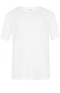 Льняная футболка с круглым вырезом Z Zegna