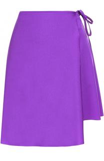 Мини-юбка асимметричного кроя с запахом Balenciaga