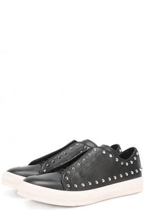 Кожаные кеды на шнуровке с декоративными шипами Alexander McQueen