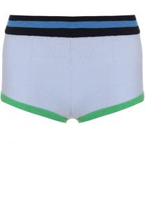 Кашемировые мини-шорты с контрастной отделкой Barrie