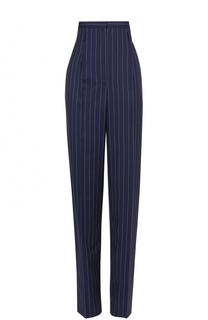 Шерстяные брюки в полоску с завышенной талией Aquilano Rimondi
