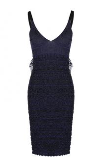 Мини-платье фактурной вязки с открытой спиной Kenzo