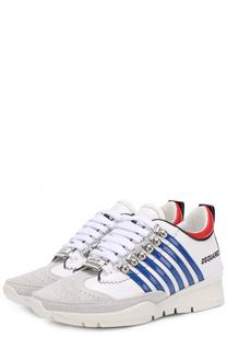 Комбинированные кроссовки с логотипом бренда Dsquared2