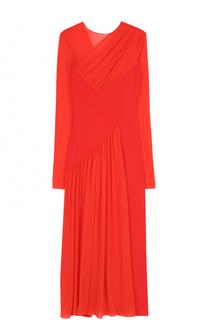 Приталенное платье-миди с драпировкой Emilio Pucci