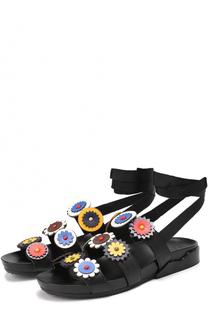 Кожаные сандалии с аппликациями Tory Burch