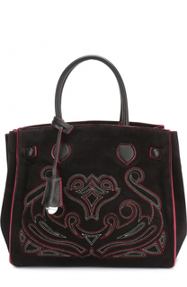 Замшевая сумка Clotilde Ricamo с вышивкой Coccinelle