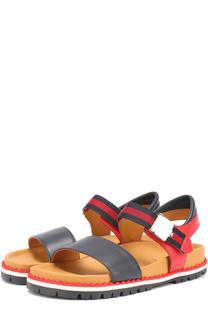 Комбинированные сандалии с ремешком Gucci