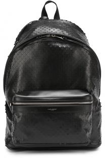 Кожаный рюкзак City с перфорацией Saint Laurent