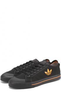 Текстильные кеды на шнуровке Adidas by Raf Simons