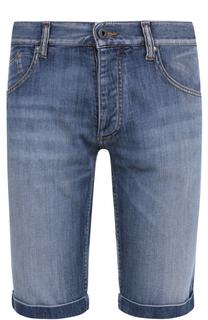 Джинсовые шорты с декоративными отворотами Armani Jeans