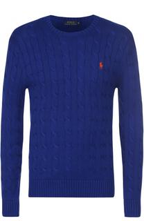 Хлопковый джемпер фактурной вязки Polo Ralph Lauren