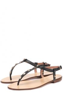 Кожаные сандалии с заклепками REDVALENTINO